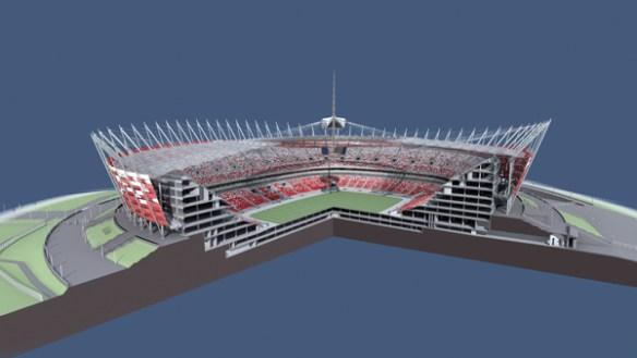 Stadion Narodowy - przekrój.