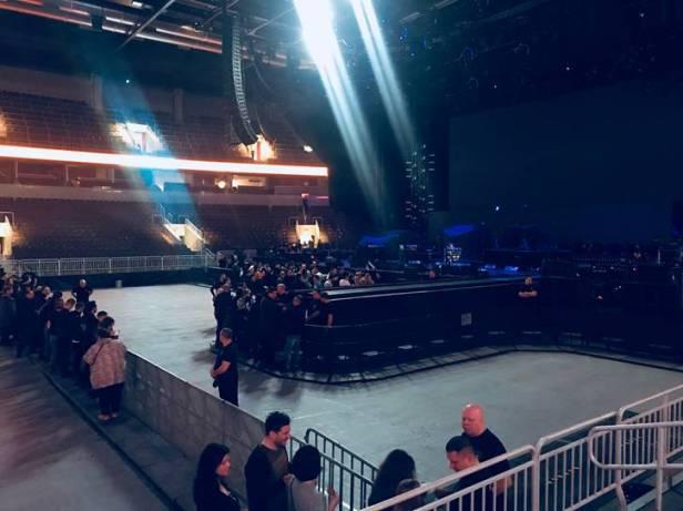 Arena Riga, przed koncertem 2018.02.20