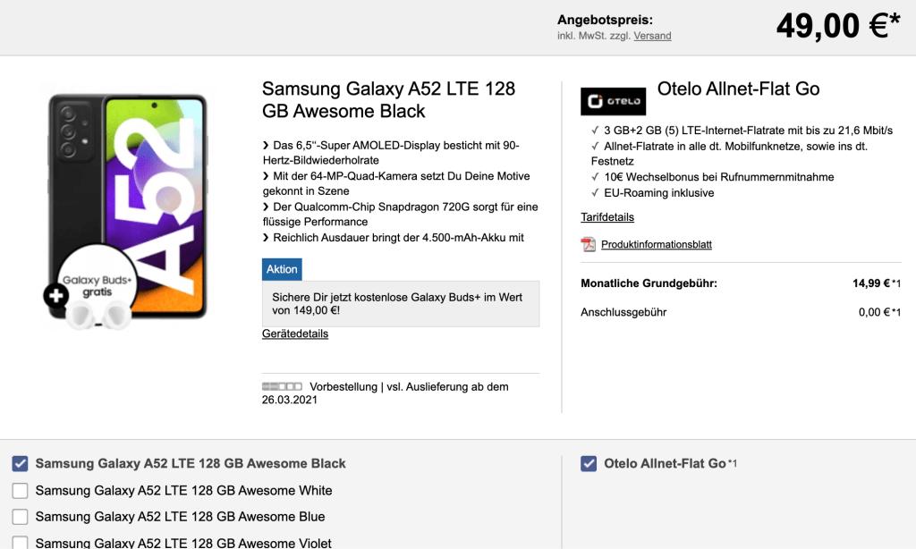 Logitel otelo Galaxy A52
