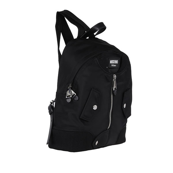 f820fb6f7b11 Moschino – Bomber Jacket Nylon Backpack   Bag – Black