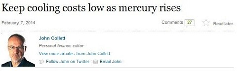 Keep cooling costs low as mercury rises, SMH, February 7, 2014