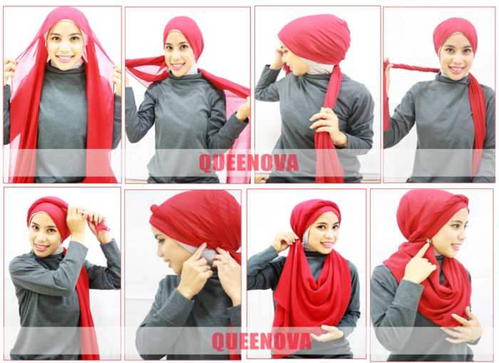 Model Jilbab Pashmina Pesta