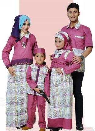 Contoh Baju Muslim Pasangan Suami Istri dan Anak Terbaru
