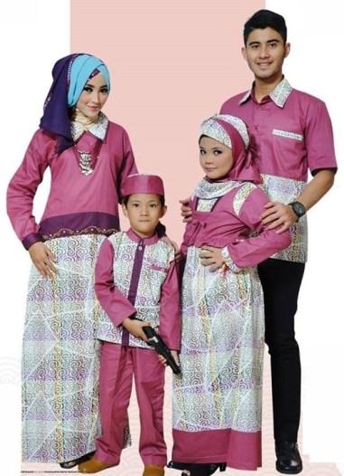 model-baju-batik-muslim-sarimbit-keluarga terbaru