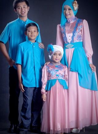 Desain Batik Sarimbit Keluarga Plus Anak Terbaru