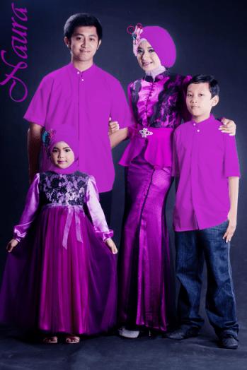 Contoh Seragam Keluarga Pernikahan Muslim Modern