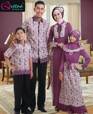 model baju Muslim kebaya pasangan suami istri dan Anak Terbaru