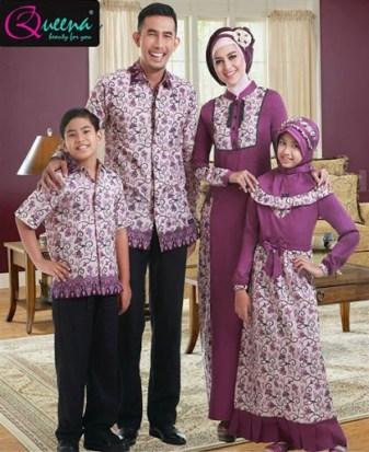 model baju Seragam batik kombinasi Kain polos Modern terbaru