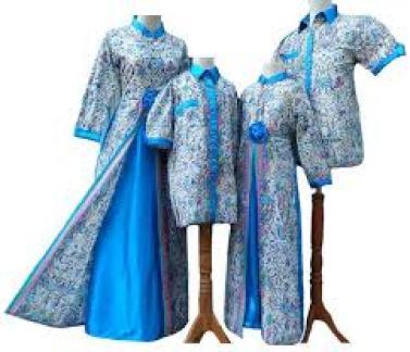 Model Baju Gamis Batik Keluarga Lebaran Terbaru