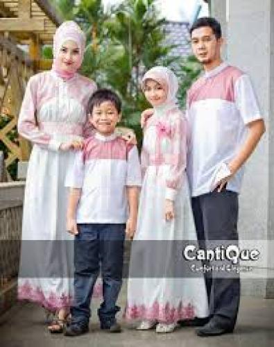 Model Baju Gamis Sarimbit Keluarga Lebaran Terbaru