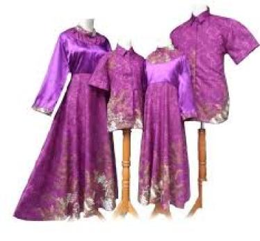 Model Baju Batik Muslim Pasangan Suami Istri dan Anak Terbaru