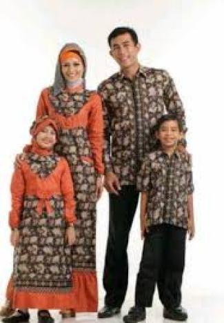 Model Baju Batik Lebaran Keluarga Terbaru