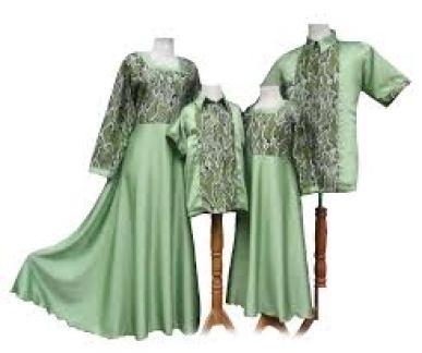 Model baju lebaran keluarga Muslim terbaru