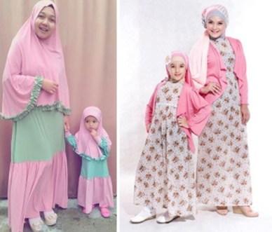 Contoh Dress Couple Ibu dan Anak Perempuan Terbaru