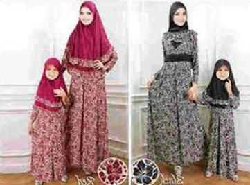 Baju Couple Keluarga Pengantin Muslimah Terbaru