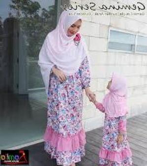 Model Baju muslim Keluarga Mewah dan Elagan Terbaru