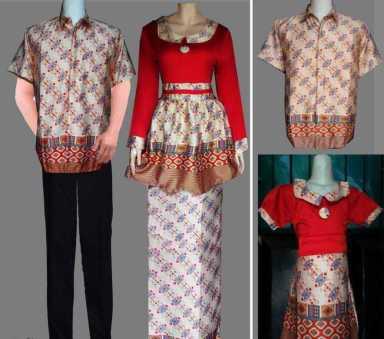 Model Baju Seragam Batik Kombinasi Terbaru