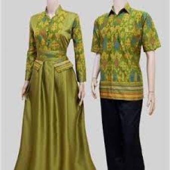 Model Baju batik Couple untuk Lebaran Terbaru