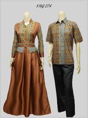 model baju seragam batik kombinasi brokat