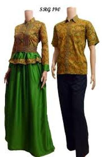 Contoh baju Batik kembar pasangan kekasih Terbaru