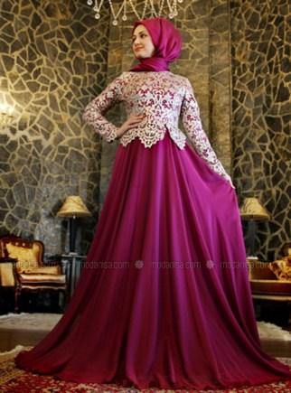 Model Dress Pesta Pendek Brokat Terbaru