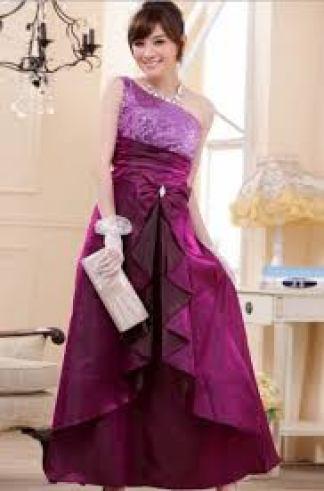 Contoh gaun pesta brokat kombinasi sifon Masa Kini