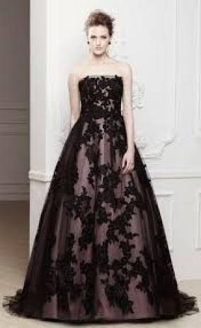 Contoh Baju Gaun pesta Brokat Mewah Modern Terbaru