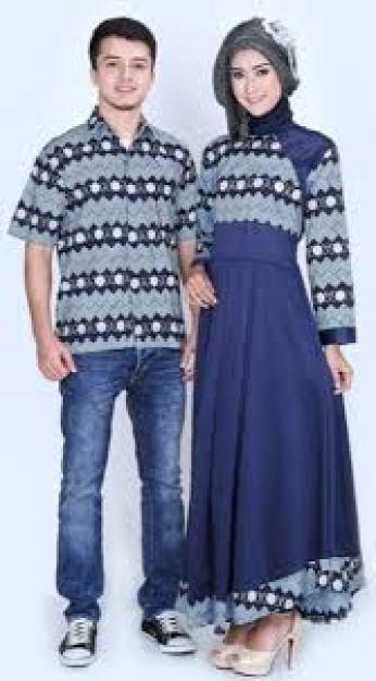 model baju couple batik kombinasi bolero
