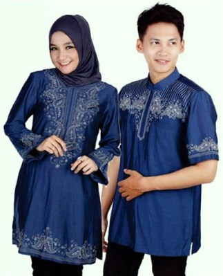 Model Baju Muslim Seragam Keluarga untuk Lebaran