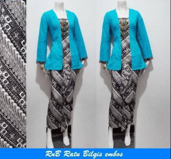 Model baju batik seragam untuk kerja Kantoran