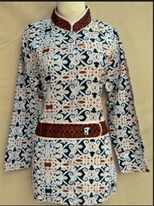 model Atasan kerja batik formal wanita berjilbab