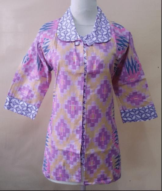 model baju batik wanita lengan panjang untuk kerja