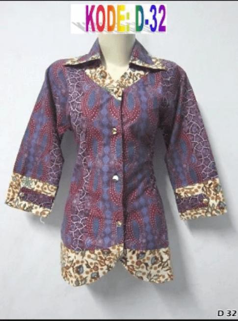 baju batik kerja modern online
