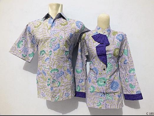 Model baju batik couple mama papa muda terbaru