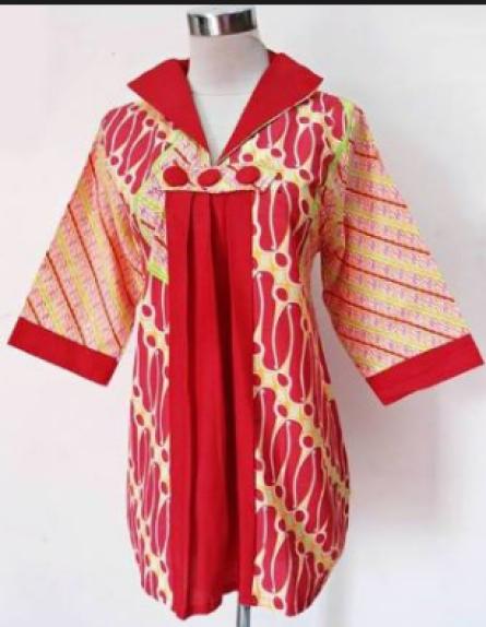 Model baju motif batik untuk kerja ala ivan gunawan