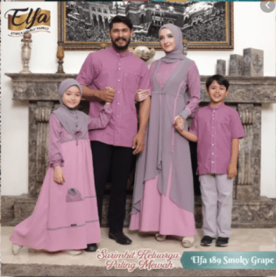 Baju couple keluarga untuk lebaran