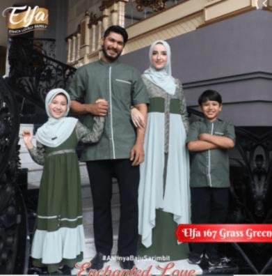 Toko baju couple keluarga di tanah abang