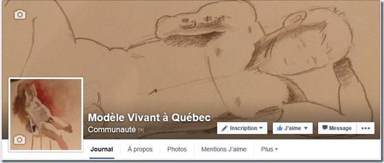 Modèle vivant à Québec Facebook Page
