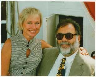 Susan Brainard with friend Francis Ford Coppola