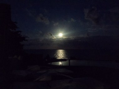 The Super Moon during the second night when I meditated and learned more about chakras