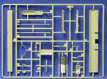 Sprue A with the major portions of the UAV