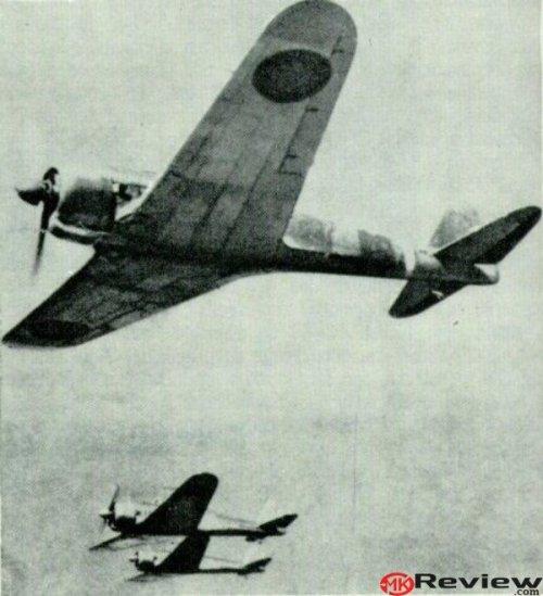 Ki-43-Ia in flight