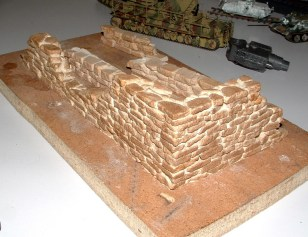 Nick's scratchbuilt sandstone ruins