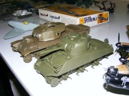 Stu's Shermans in progress