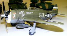 Wayne's P-47D nose art view