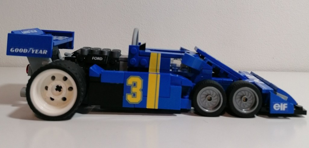 Tyrrell P34 1976 LEGO, modellino scala 1:18