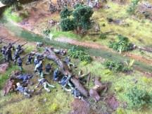 Artillery hit