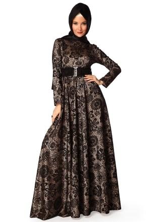 Baju Gamis Brokat dengan Model Paling Elegan