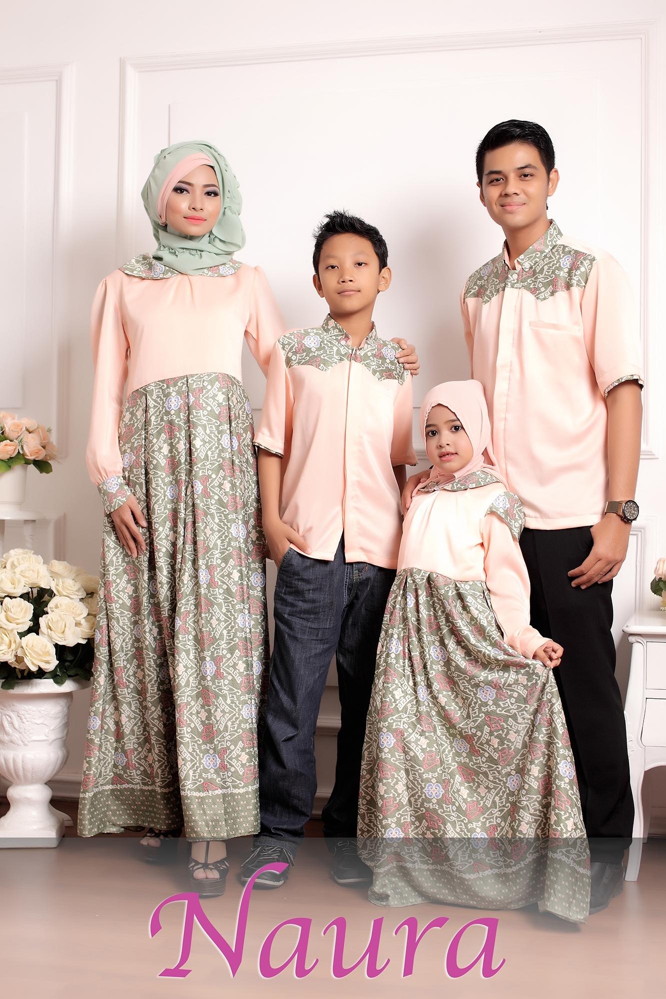 Model Baju Batik Keluarga untuk Lebaran Paling Gaya