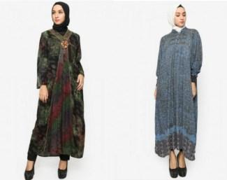 Gamis Batik Muslim untuk Pesta Pernikahan Paling Bergaya